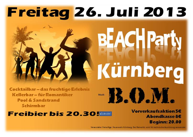 Beach-Party-Kürnberg