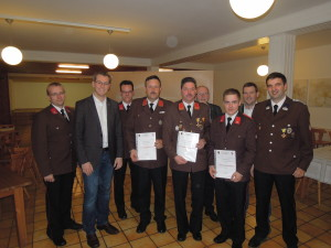Beförderungen bei der Mitgliederversammlung 2016