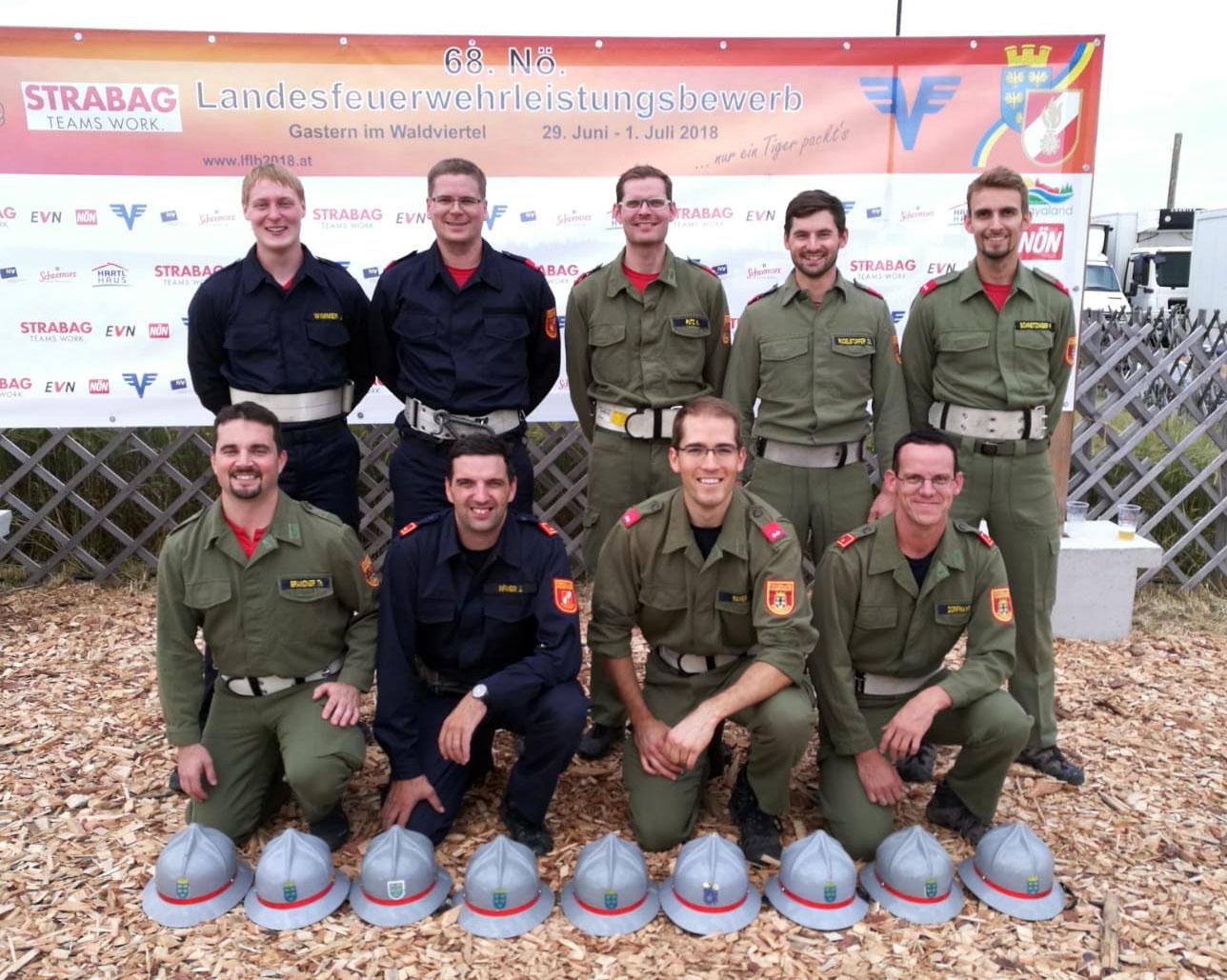 Landesfeuerwehrleistungsbewerb 2018 in Gastern Wettkampfgruppe Kürnberg 2